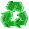 recycling 3D (green glass)