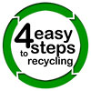4 easy steps to recycling