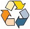 recycling (6 colors - 3 arrows)