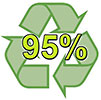 recycling 95% - WE CLEAR RUBBISH (Mortlock, UK)