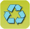recycling (blue on green)