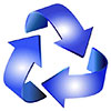 recycling (blue spin)