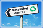 recycling centre (info-roadsign)