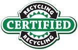 RECYCLING CERTIFIED (biz logo, US)