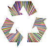 Chromatic Recycling Clipart Symbol