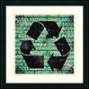recycling: comes & goes around (framed)