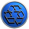recycling contour badge (US)