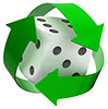 recycling dice