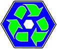 recycling - double hexagon