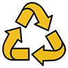 recycling (flexible yellow)
