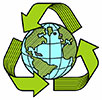 recycling globe metalcut