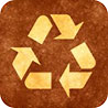 recycling (golden-brown)