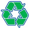 recycling green-blue cute