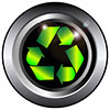 recycling green metalized button