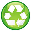 recycling green-blow button