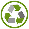 recycling green and gray