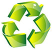 recycling green blinking (stock)