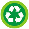 recycling green flat button