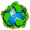 recycling green globe