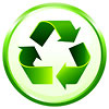 recycling green on white badge