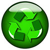 recycling (green professional badge)