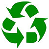 recycling green (stencil-type)