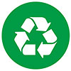 recycling (green stencil)