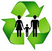 recycling human family