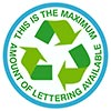 THIS IS THE MAXIMUM AMOUNT OF LETTERING AVAILABLE 