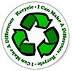 Recycle - I Can Make A Difference (sticker)