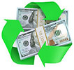 recycling makes cash (packs-dollars)