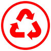 recycling mark (round)