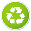 recycling (outlined green button)