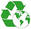 recycling over globe - earth_needs_recycling