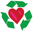 recycling over heart