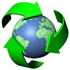 recycling over planet
