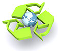 recycling over world