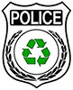recycling police badge