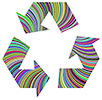 Prismatic Recycling Clipart Symbol