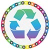 recycling rainbow wheel