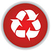 recycling (red button)