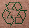 recycling reverse (on brown)
