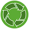recycling (3 arrows - rounded green)