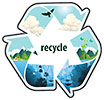San Diego Recycling Decal (US)