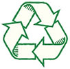 recycling (tight, green outline)