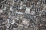 recycling typeset composition (fotolia, FR)
