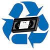 recycling VHS cassette