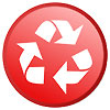 recycling: white-on-red button