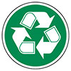 recycling (white/green outlined)