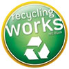 recycling works (badge)